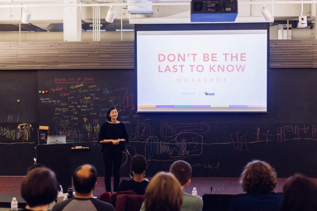 "Announcing: The ""Don't Be the Last to Know"" Workshop"