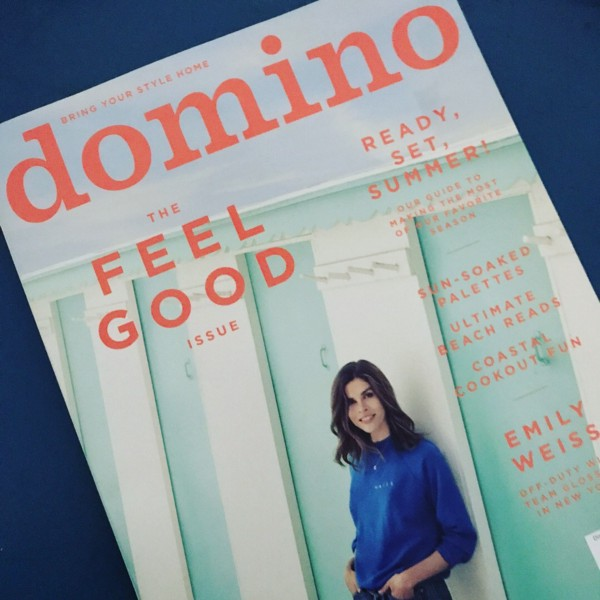 Fun! We're featured in Glossier's cover story in Domino Magazine 🎊