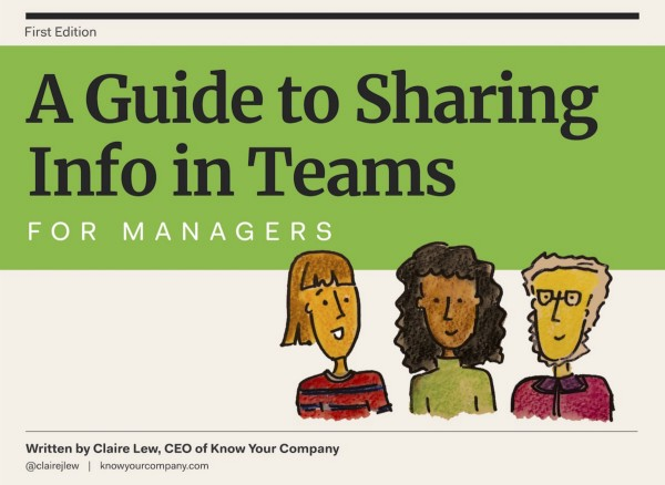 Announcing: A Guide to Sharing Info in Teams for Managers and Employees 📝