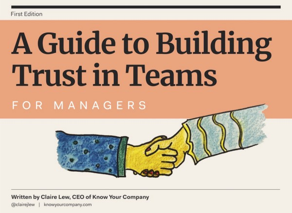 Announcing: A Guide to Building Trust in Teams for Managers and Employees 💪
